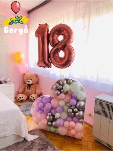18. születésnapi lufi dekoráció